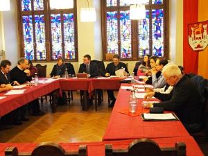 Der Kernstadt-Ausschuss im Sitzungssaal des Alten Rathauses.