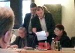 Kompromisssuche: Pfefferkorn (GfE/BL) bei der SPD.