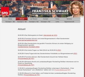 Schwarz-Website mit Wunderling-Weilbier-Terminen. Screenshot vom 30.05.2014
