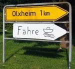 Wo geht's zur Fähre nach Olxheim?