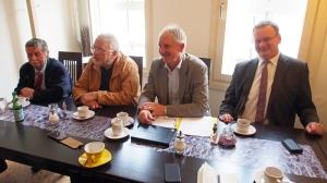 Ludolf von Dassel, Günther Kelter, Joachim Stünkel, Hartmut Demann (v.l.).