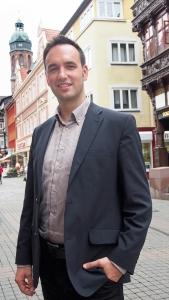 Angekommen in Einbeck: Florian Frank Geldmacher (29), neuer Geschäftsführer der Einbeck Marketing GmbH.