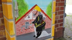 Gestalteter Stromkasten in Hullersen an der Feuerwehr.
