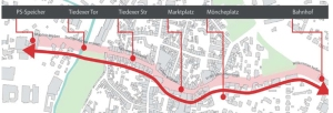HIer verläuft die Magistrale der Baukultur. Abbildung: Stadt Einbeck