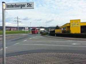 """""""Tiedexer Feld"""": Das Gelände des ehemaligen Restposten-Marktes an der Ecke Insterburger/Hullerser Landstraße."""