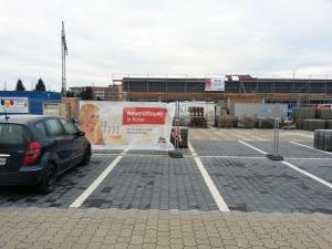Der dm-Markt an der Grimsehlstraße soll im Frühjahr eröffnen.