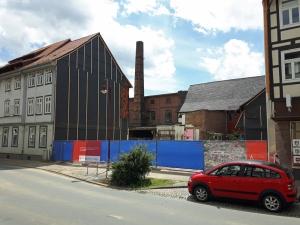 Abriss abgeschlossen: die Brand- und Baulücke Altendorfer Straße 26 und 24 in Einbeck.