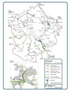 Bus- und Bahnangebot. (c) Planersozietät Dortmund