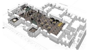 Neue Pläne für das Alte Rathaus, so könnte die Rathaushalle im Erdgeschoss aussehen. Abbildung: SHH Architekten Hildesheim