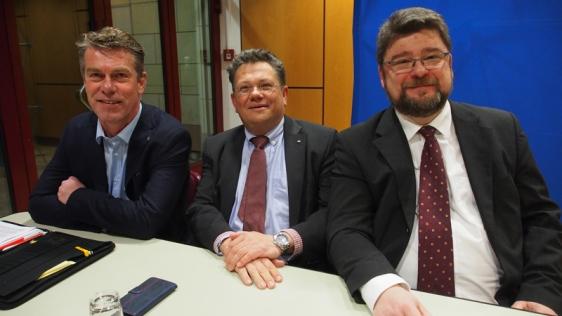 Wer wird's? Jürgen Horst, Dr. Andreas Philippi oder Marcus Seidel (v.l.)?